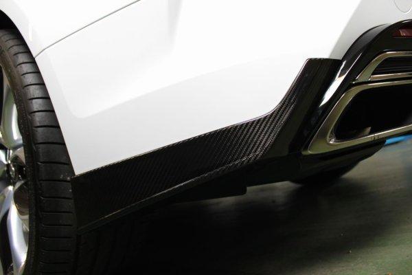 画像1: LC500/h用ドライカーボンリヤバンパースポイラー左右セット (1)