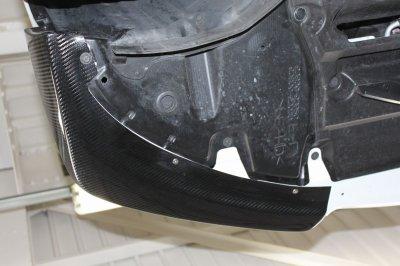 画像1: ISF用 ドライカーボン フロントスポイラー 左右セット