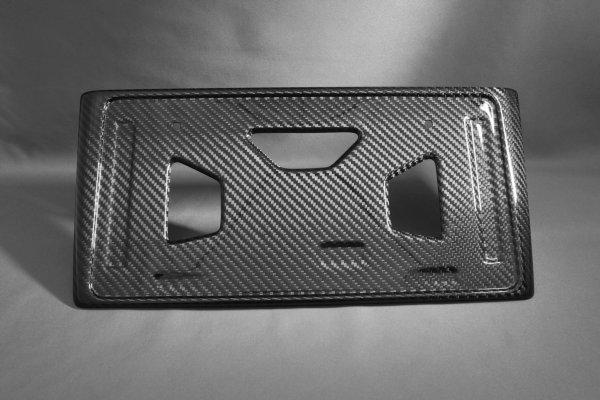 画像1: CT200h用 ドライカーボン リヤナンバーフレーム (1)