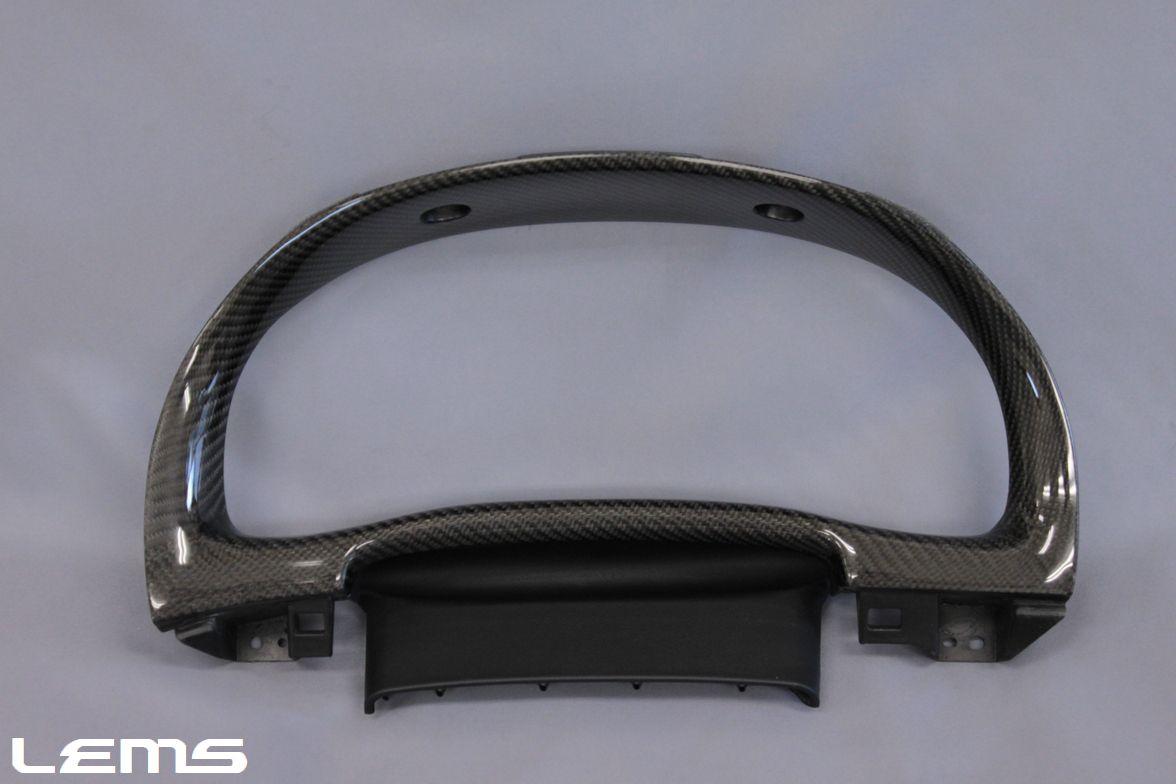 画像1: RX用 ブラックカーボンメーターフード