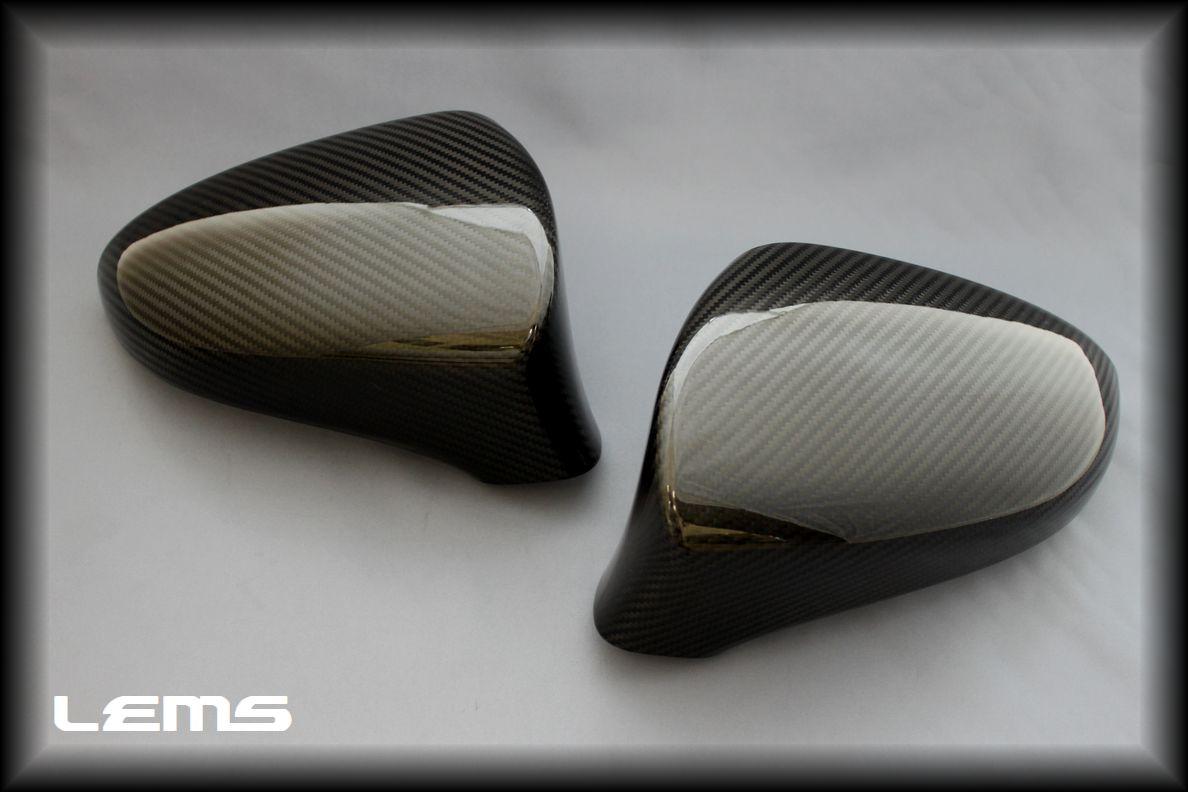 画像2: GS250/350/300h/450h用 ドライカーボンドアミラー 純正交換モデル左右セット