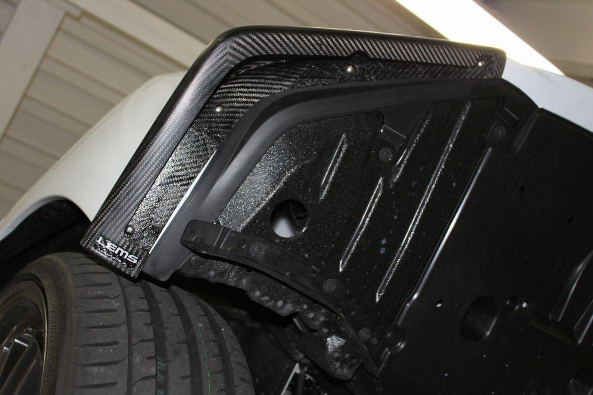 画像4: IS Fスポーツ用 ドライカーボンフロントスポイラー左右セット