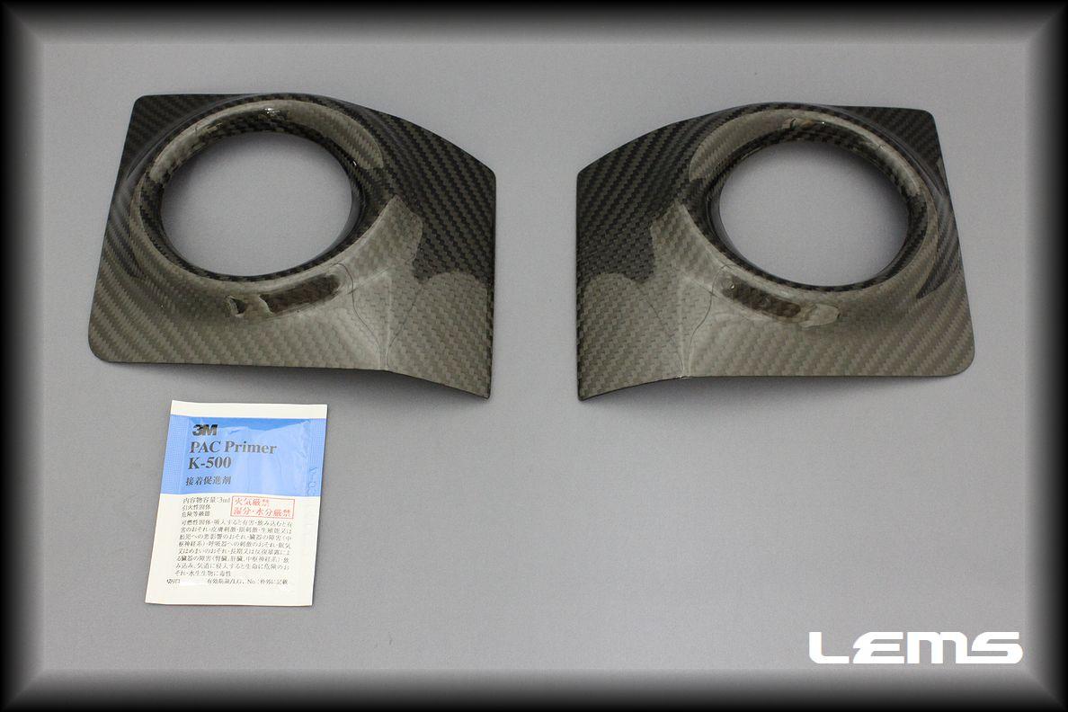 画像1: ISF用ドライカーボンフォグランプカバー 左右セット