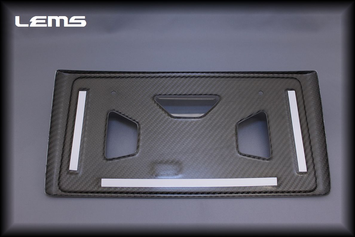 画像2: RX用 ドライカーボン リヤナンバーフレーム