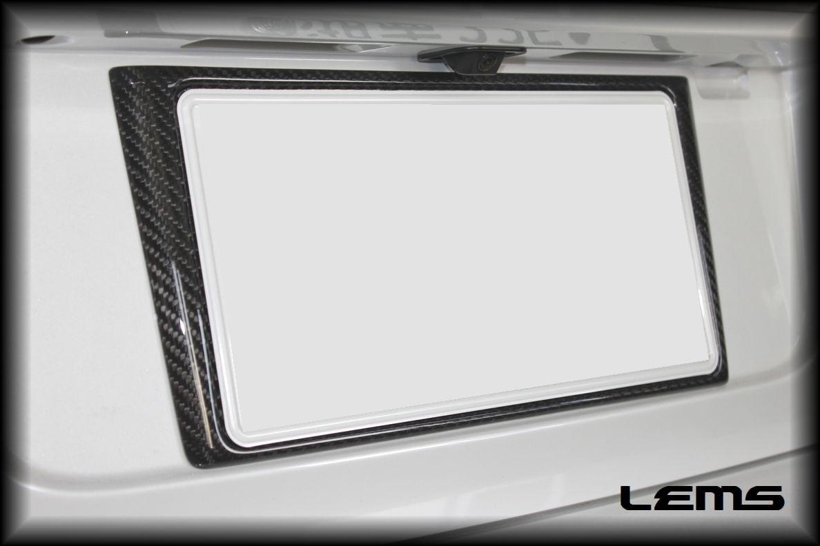 画像4: GS用 ドライカーボン リヤナンバーフレーム
