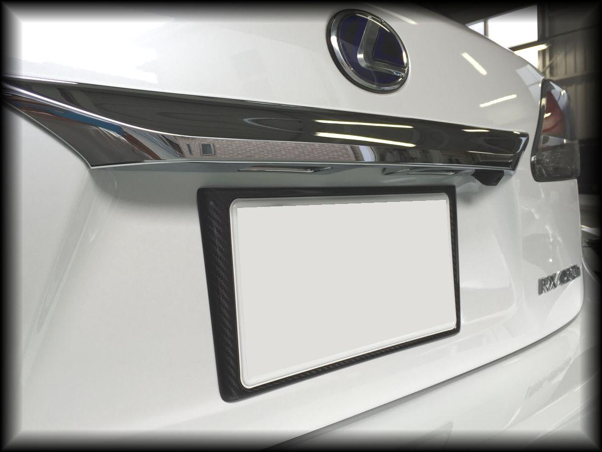 画像3: RX用 ドライカーボン リヤナンバーフレーム