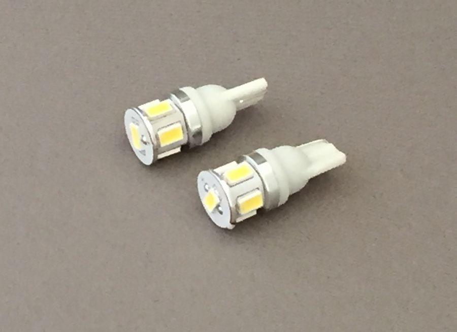 画像1: BTS LEDハイパワーバルブ T10用 6チップホワイト左右set