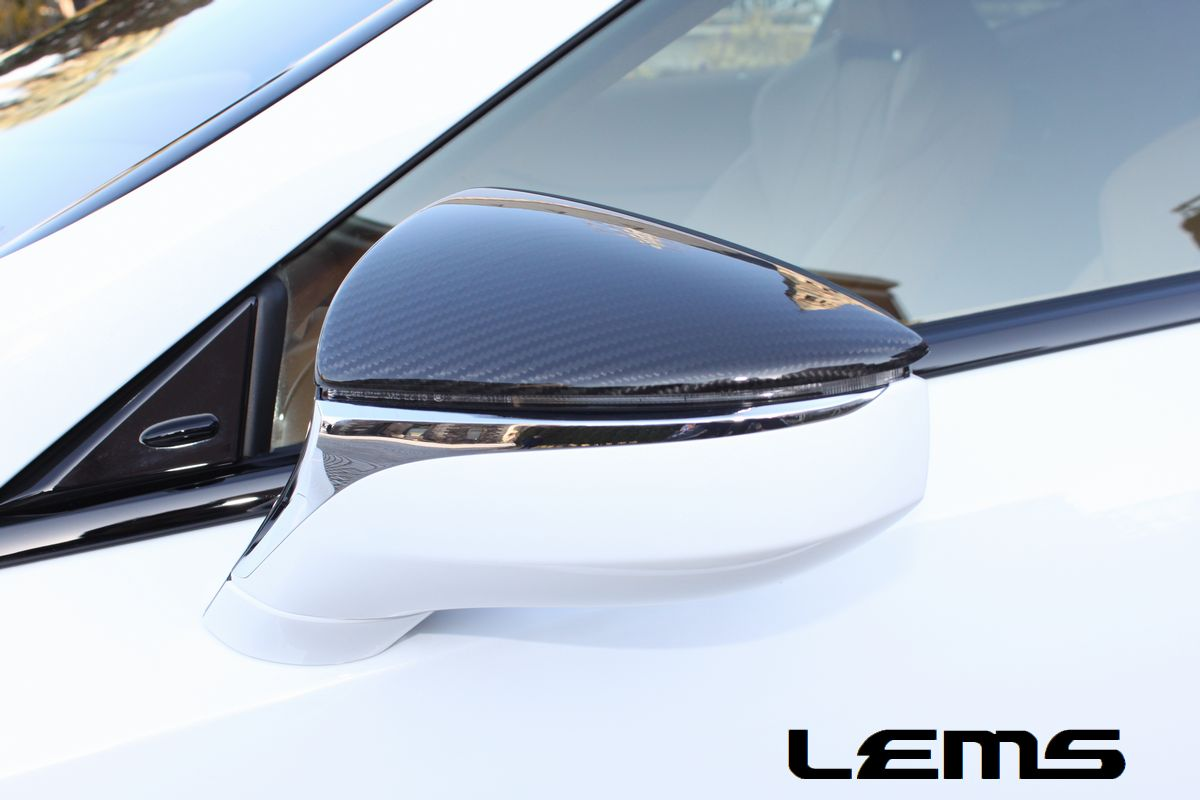 画像2: LC500/h・LS500/h用ドライカーボンドアミラーカバー左右セット