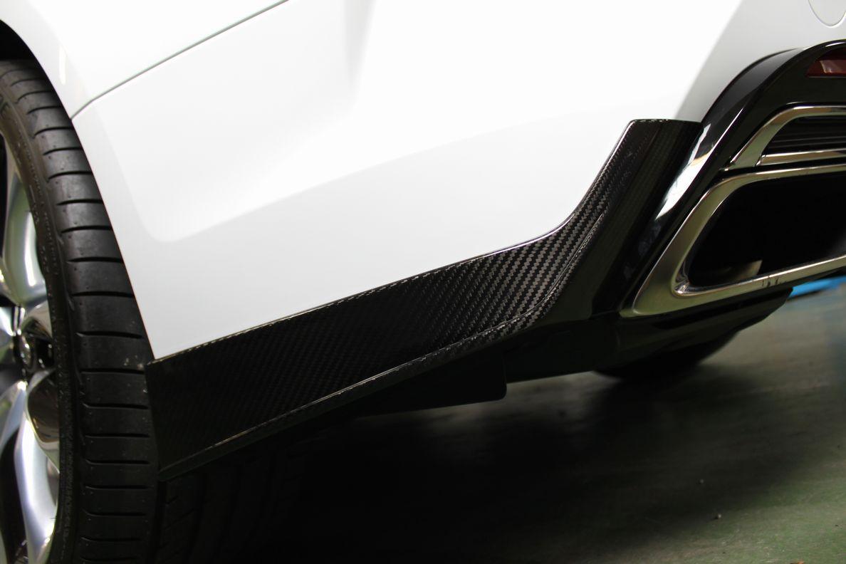 画像1: LC500/h用ドライカーボンリヤバンパースポイラー左右セット