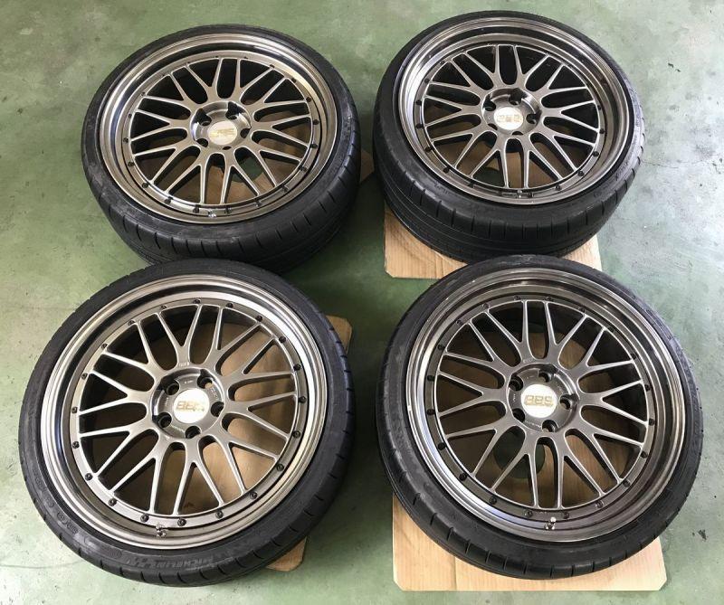 画像1: LEMS 限定モデルBBS LM プラチナエディション  中古4本タイヤセット