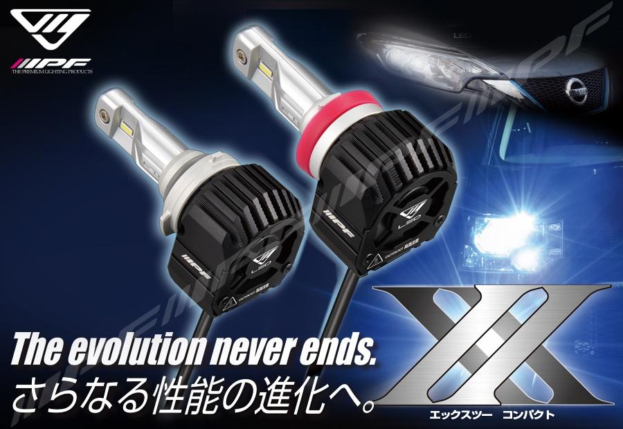 画像1: LED ヘッドランプバルブX2 コンパクト