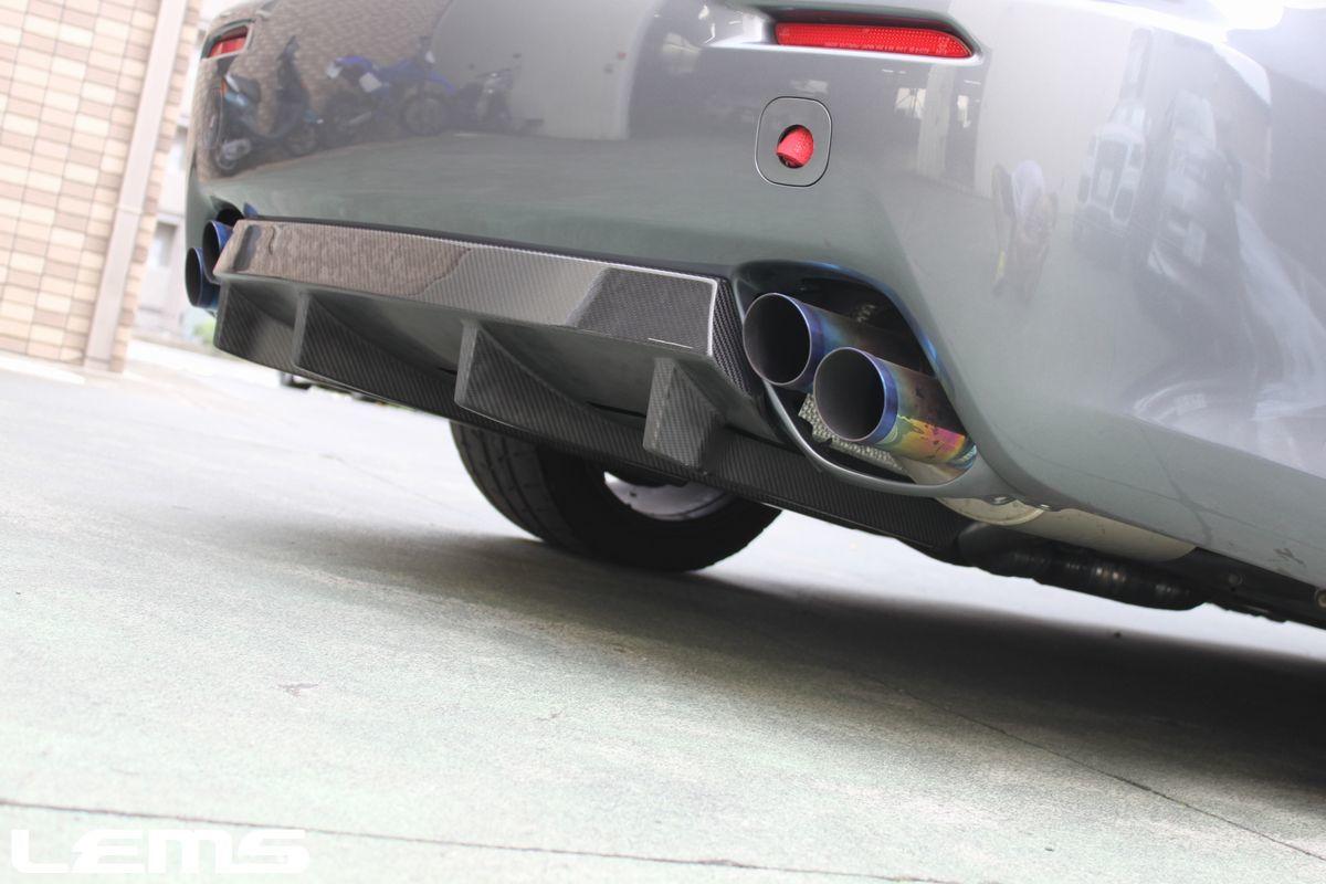 画像4: ISF用ドライカーボンフロントスポイラー3点セット&ドライカーボンリヤアンダーディフューザー(クリア塗装済み)